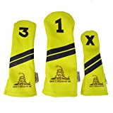 Sunfish Leather Headcover Set Don't Tread On Me Gadsden Flag Military