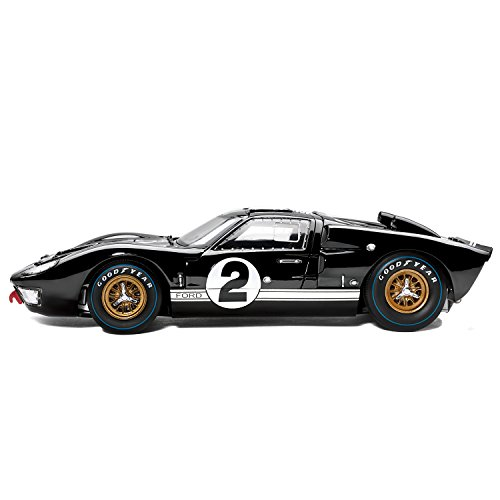 1:18 Scale 1966 Ford GT 40 MK II No 2 Diecast Car Replica: Black by The Hamilton Collection
