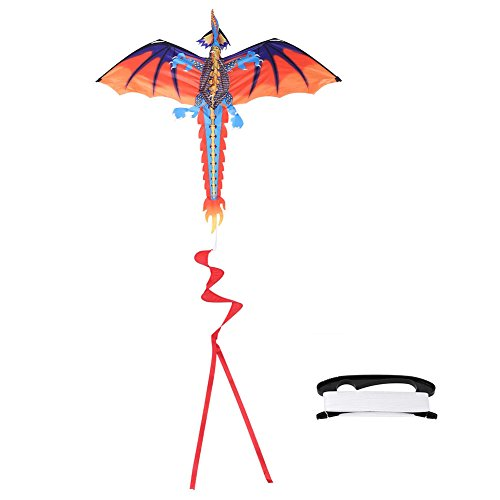Gloglow 3D Dragon Kite Outdoor Flying Kite Glider Kids Adult Sports Toy For Spring Summer Present