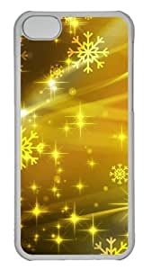 Customized Case Colorful yellow Art PC Transparent for Apple iPhone 5C