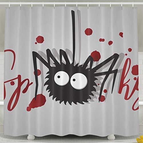 Silinana Spooky Halloween Hand Lettering 6072 Inch Bathroom