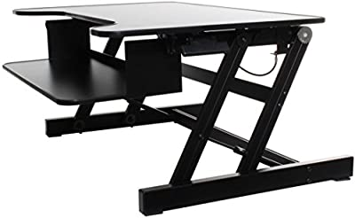 BACK Standing Desk   Height Adjustable Sit-Stand Workstation   New Easy to Use Hand-Levers   Office Desk for Desktop Computers and Laptops