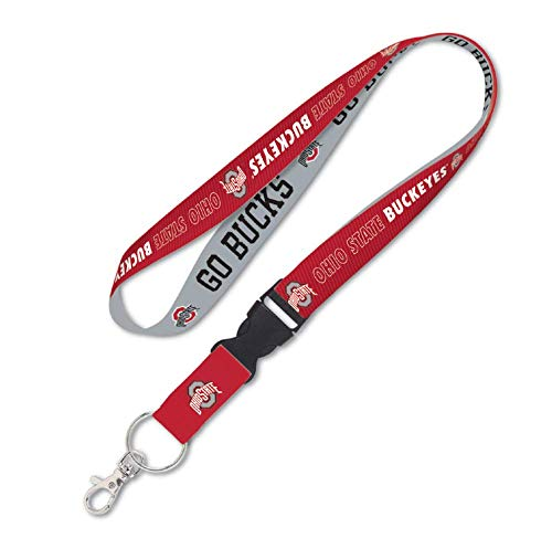- NCAA Ohio State University OSU Buckeyes 1 inch Lanyard with Detachable Buckle