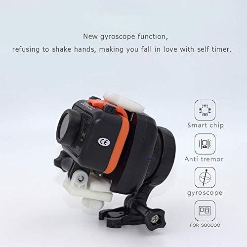 Studyset - Estabilizador de cámara de acción con rotación de 1 Eje para Deportes, DV, Smartphone