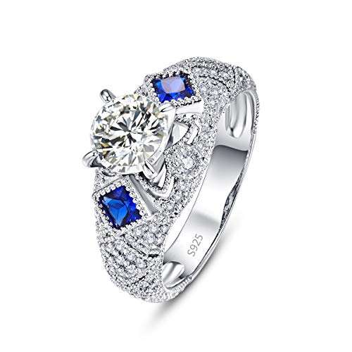 PAKULA 925 Sterling Silver Women Cubic Zirconia CZ Cocktail Wedding Band Ring Size 9