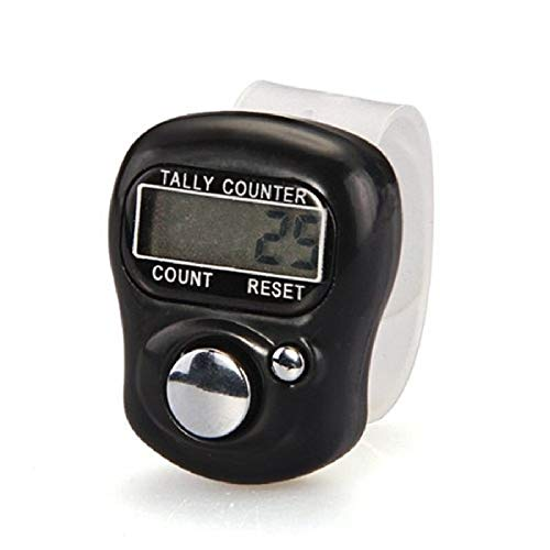 Manual Counter - Mini 1pc Stitch Marker And Row Counter Lcd Electronic Digit Finger Ring Digital Tally Clicker Timer - Hold Knitting Septum Hand Finger Digital Nozomi Kawaii Year Abacus Balloon