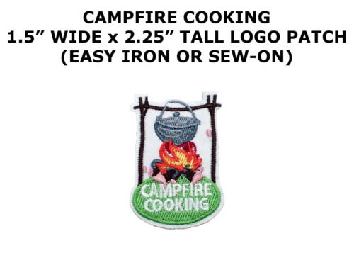 Girl Boy Cub STICK COOKING hotdog campfire Fun Patches Crests Badges SCOUT GUIDE by I.E.Y.online-store