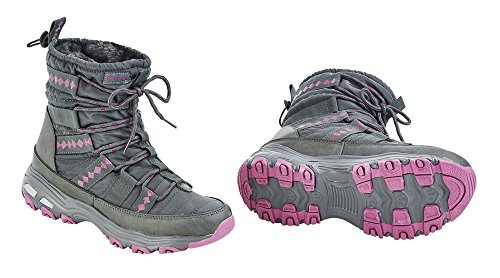 Thermoschuh BURNABY grau (pink)