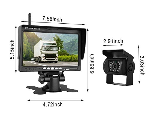 Wireless Backup Camera And 7 Quot Hd Lcd Monitor Kit For Rv