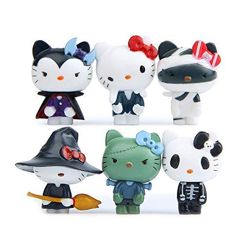 BoldType Hello Kitty - 6pcs/Set Hello Kitty Figures Toy Cute Halloween Cosplay Hello Kitty Cat PVC KT Kitty Cat Collectible Model Toy Doll 1 -