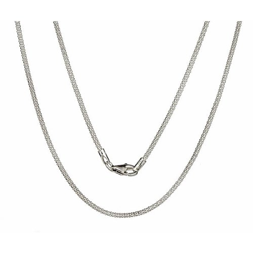 1.5 Mm Popcorn (Italian .925 Sterling Silver 1.5mm Popcorn Chain Necklace All Sizes - 30