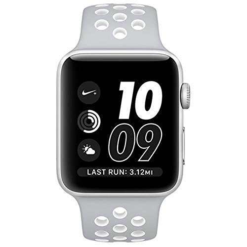 Apple Watch Nike  38Mm Silver Aluminum Case Flat Silver White Nike Sport Band  Certified Refurbished
