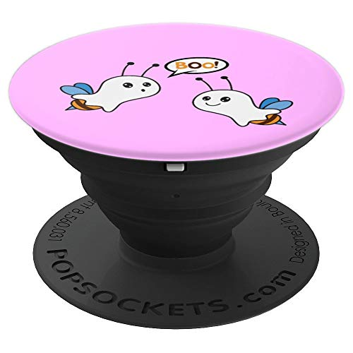 BooBees Breast Cancer Halloween Scary Bees Costume - PopSockets Grip and Stand for Phones and Tablets]()