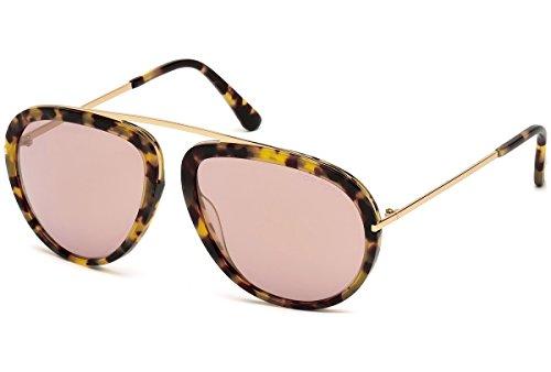 Tom Ford Sonnenbrille Stacy (FT0452) 53Z: Blonde Tortoise / Rose Gold