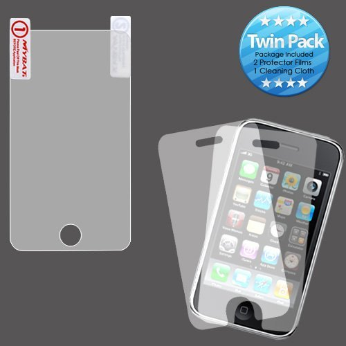 Touch 3g Screen Protector - Two 2 Pieces Twin Pack High Quality Mp3 Player Screen Protector Shield Guard for Apple iPod Touch i-Touch 2nd 2G and 3rd 3G Generation