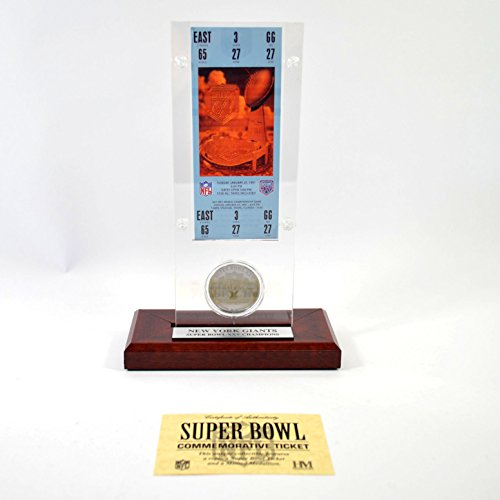 Highland Mint Super Bowl XXV Replica Ticket with Bronze Coin (Super Bowl Bronze Coin)