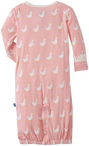 KicKee Pants Baby Girls' Print Ruffle Layette  & Knot Hat Set (Baby) - Duck - 6-12 Months