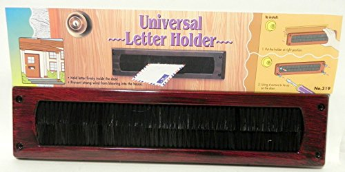 Universal Mail Slot Letter Holder Front Door Mail Wind Woodgrain Look Keep Drafts Out
