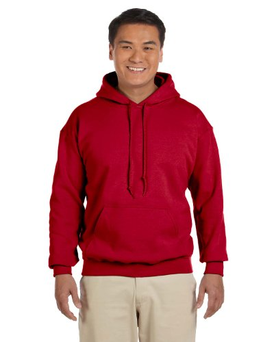 (Gildan 18500 - Classic Fit Adult Hooded Sweatshirt Heavy Blend - First Quality - Cherry Red -)