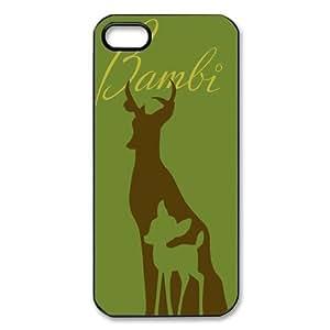 Customize Black White Cartoon Disney Bambi Back For Iphone 5/5S Case Cover JN -2182