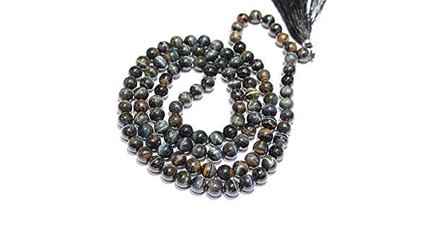 Amazon.com: Gems-World Jewelry 5 Strand Black Tiger Eye mala ...
