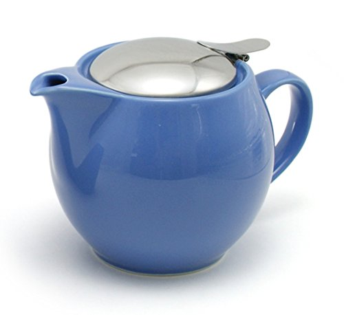 ZEROJAPAN 15oz Round Teapot with SLS Lid and Infuser (Blue Berry)