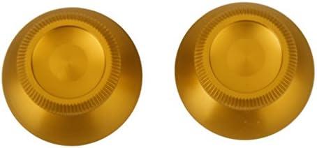 弾丸ボタン サムスティック 高品質 交換用 PS4ゲームコントローラー用 全6色 - ゴールド