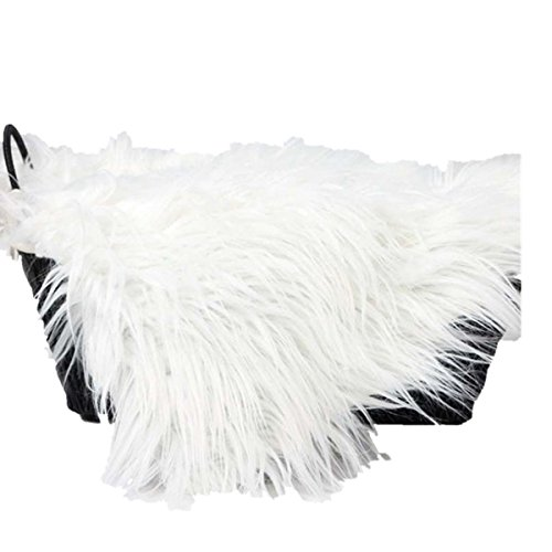 Voberry Baby Photo Props Newborn DIY Photography Soft Fur Quilt Photographic Mat (White) -