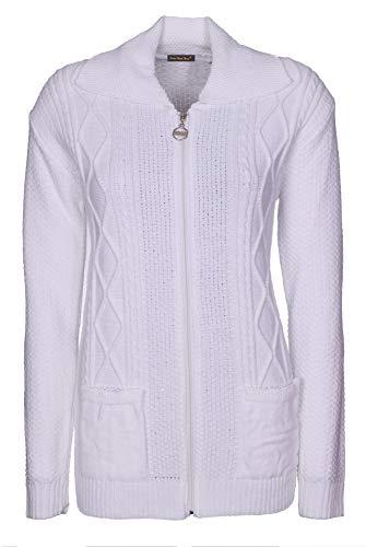 Clear Shop Blue Femme Mid Lets Buttons 44 Blanc bleu Shop Gilet qOTTw6C