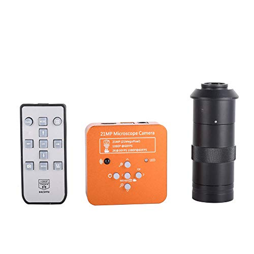 (HAYEAR Full HD 21MP 2K 1080P 60FPS HDMI USB Industrial Electronic Digital Video Microscope Camera for Phone CPU PCB Repair +100X Zoom C-Mount Lens )