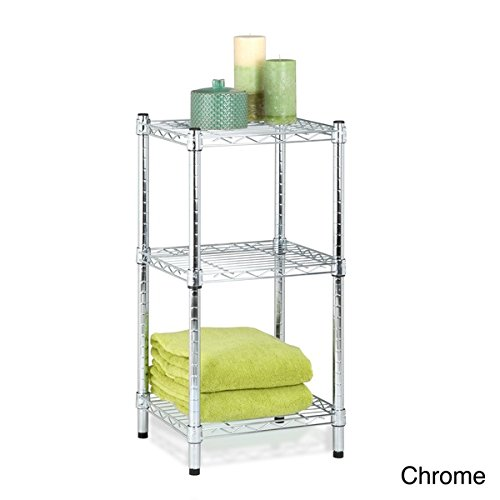 Honey-Can-Do 3-Tier Wire Shelving Tower - Chrome