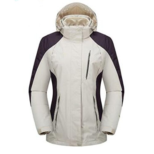 Wear Di Three One Mountaineering Aumenta Plus Wu Velluto Extra Outdoor Spesso Ladies Mezza Lai Giacche Large In Fertilizzante Bianco Età Bqvwag6