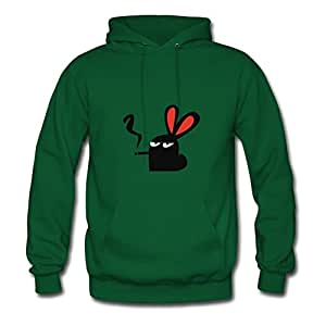 Women Smokin' Rabbit. Green Designed Fashionalble Casual Hoody Shirts X-large