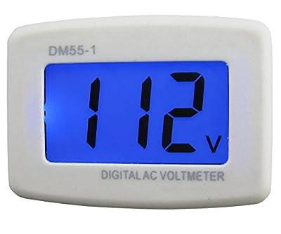 Yeeco AC 80-300V Wall Flat US Plug LCD Digital Voltmeter Volt Panel Meter Voltage Tester Gauge 110V 220V Voltage Measuring Monitor volt Monitoring Measure Measurement Household voltage tester