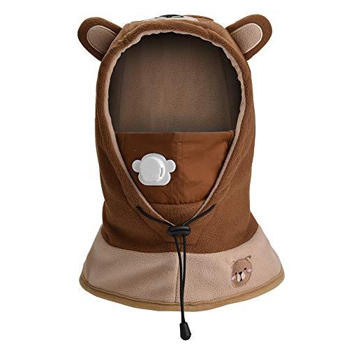 ac8ce3bfca5 HZTG Baby Boys Girls Winter Warm Balaclava Hat Ski Riding Face Mask Neck  Warmer Fleece Hood (Brown