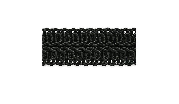 Precut 25 Yard Kiki 3//4in Classic Woven Braid Gimp Trim Black