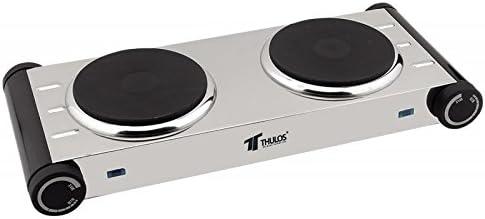 Thulos - Cocina Eléctrica 2 Quemadores Acer. Inox.