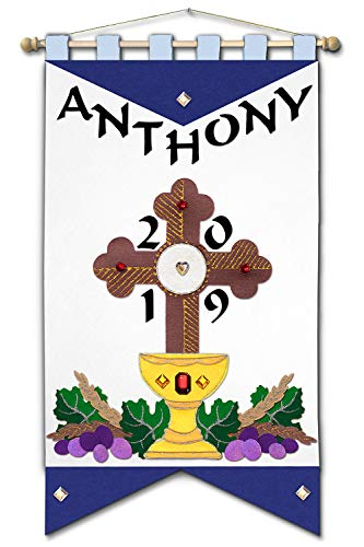 (First Communion Banner Kit - 12 x 18 - Cross -)