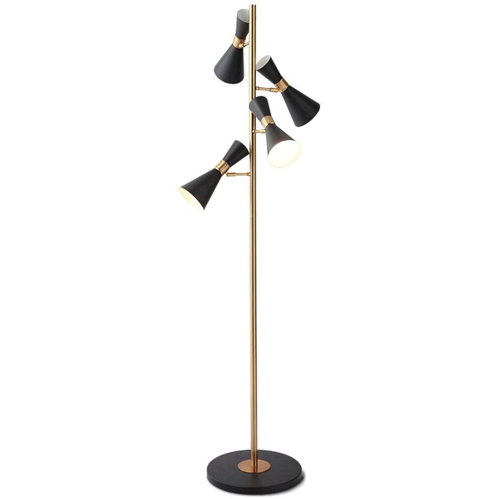 &フロアランプ フロアランプLEDソファクリエイティブブラックマルチヘッドベッドルーム垂直サイドランプ &照明 B07M6JK4GZ