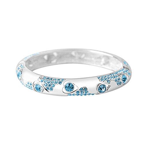 [LOMOL Womens Top Grade Retro Elegant Cute Charm Shining Alloy Crystal Bracelets(C3)] (Egyptian Woman Costume Uk)