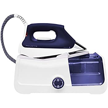 Rowenta DG8430 Pro Precision 1800-Watt Steam Iron Station Stainless Steel Soleplate, 400-Hole, Purple