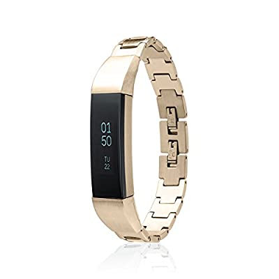 Fitbit Alta Bracelet SOSO - stainless steel- 18K Gold plated - Jewelry for Fitbit Alta - Fitbit Alta Band - Fitbit Alta Accessories - Fitbit Alta replacement band (No Tracker)