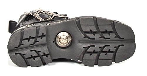 Pelle Stringata New Rock Scarpe In D'argento Hi Top Design Incrociato Stivaletti Stile Retro IrwwSax