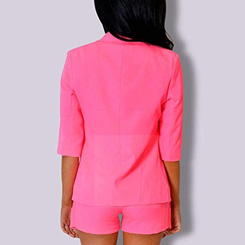 Autunno Sottile Ufficio 3 Manica Fashion Giacca Camicia Bavero Colori Primaverile Donna Blazer Tempo Business 4 Libero Stlie Cappotto Grazioso Eleganti Da Tailleur Rose Solidi wnYqv6