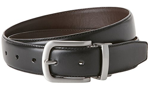 Cole Haan CHDM31035 BLK Men's Black Brown Reversible Leather Belt (42)