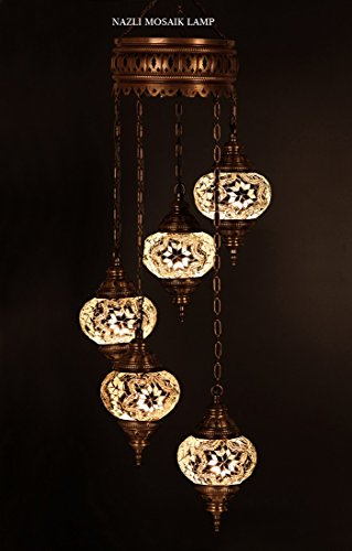 Real Stained Glass Tiffany Style Handcrafted Pendant Light in US - 2