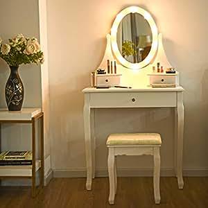 Amazon.com: Giantex Vanity Dressing Table Set with Makeup