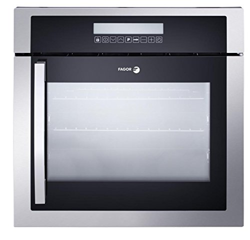 6HA-200TRX 24'''' European Convection Wall Oven with Right Hinge 10 Cooking Programs LED Touch Control and High Energy Efficiency in Stainless Steel by Fagor (Image #4)