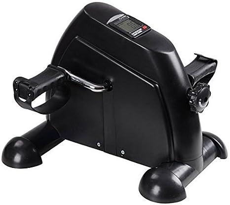 Mini Pedal Exerciser Cycle Bike Leg Arm Desk w//LCD Display Home Exercise Black