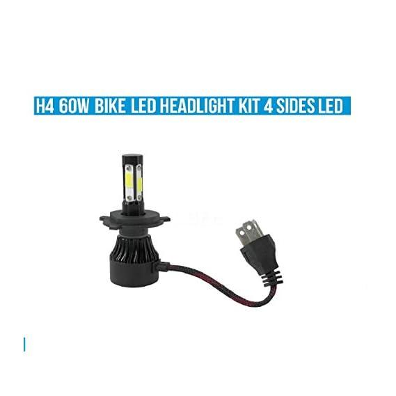 UBEE 6000LM H4 4 Side LED Motorcycle Headlight Bulbs 35W hi/lo far Light White Driving Lights Motorbike H4 LED Moto Bike